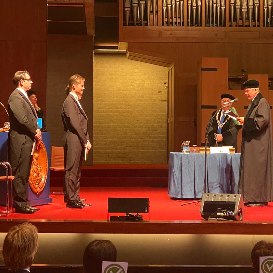 Hans Meel obtained a cum laude doctorate for his research into brain stem cancer